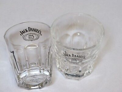 Jack Daniels - Pair Of Large Shot Glasses