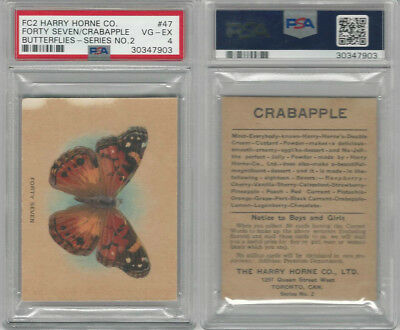 FC2, Harry Horne Co, Butterflies, 1920's Canada, # Forty Seven, PSA 4 VGEX