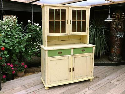 Old/antique/vintage Pine/painted Glazed Dresser/sideboard/cupboard. We Deliver!