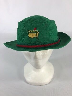 5dc481dd4e6 VINTAGE MASTERS AUGUSTA National Bucket Hat Derby Cap XL X-Large A1 ...