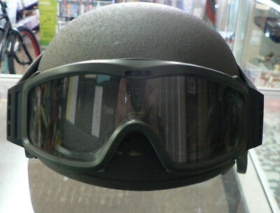 Tactical Ballistic Helmet (TBH-II) Size Large With Googles 02/09