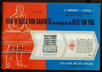 "1958 Coladonato Bros. ""How to Build Gun Cabinets"" Handbook/Catalog - Hazleton,PA"