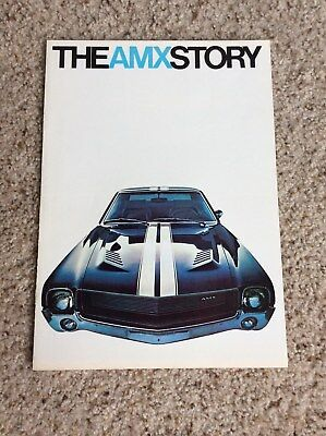 1968 American Motors,  AMX  original dealership showroom sales literature