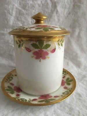 Antique Limoges 3 Pc Porcelain Condensed Milk Set
