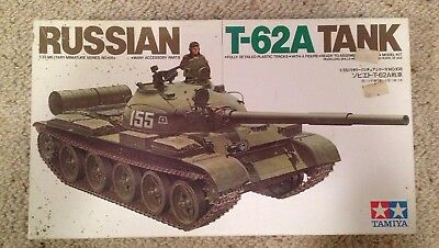 Russian T-62A Tank 1/35 Scale Model Kit By Tamiya No. 3608