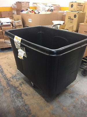 Rubbermaid 4619 FG461900BLA Black 20 Cu Ft Bulk Cube Truck 600 # capacity 36x48""