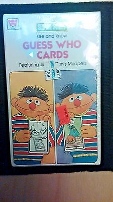 """Vtg Sesame Street 1978 Guess Who Cards Jim Hensons Muppets 3-1/2"""" x 5-3/4"""" Seale"""