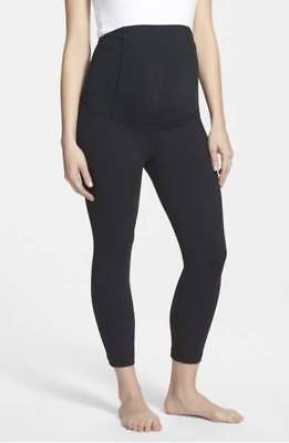 INGRID & ISABEL Active Maternity Capri Pants, Black; SMALL
