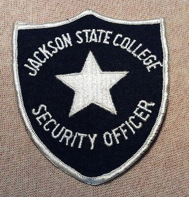 MS Jackson State College Mississippi Security Officer Patch