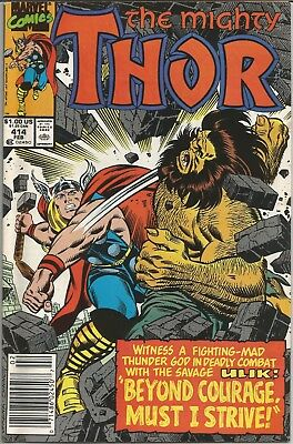 Thor #414 (Feb 1990, Marvel) Thor Vs. The Savage Ulik!