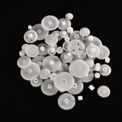 58pcs Plastic Gears M0.5 For Motor Robotics Model Shaft Part DIY Helicopter Sm