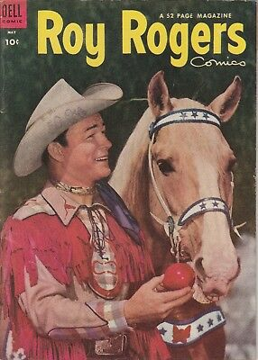 1954 No. 77 Roy Rogers Western Cowboy Dell 10 Ct Comic Book Golden Age 52 pages