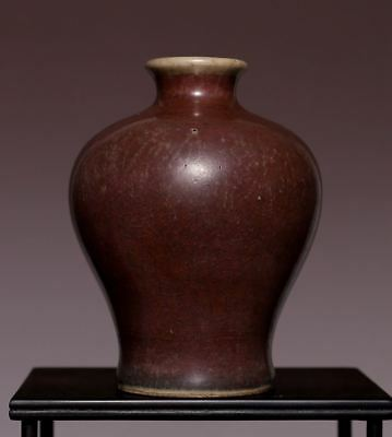 Chinese Qing Dynasty Antique Qianlong Old Vase red glaze small plum Bottle HX27