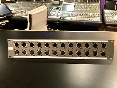 SSL Solid State Logic Rackmount XLR to DL convertor patch panel 126755