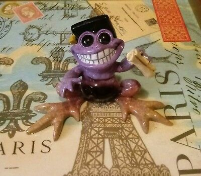 Kitty's Critters Purple Graduation Frog ( You Did It ) Retired Frog !!