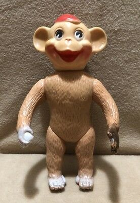 Blue Ribbon Shoe Novelty Co. Rubber Toy Monkey 10 1/2""