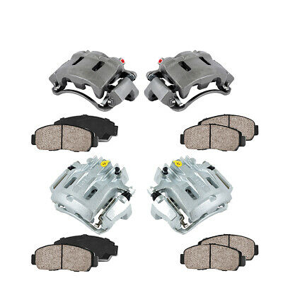 Front + Rear Brake Calipers & Ceramic Pads For EXCURSION F-250 F-350 SUPER DUTY