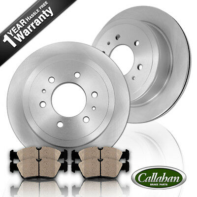 Rear OE Disc Brake Rotors & Ceramic Pads For 2010 - 2015 Cadillac SRX 2011 9-4X