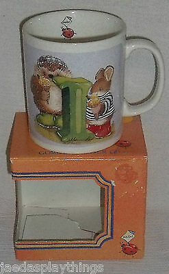 "Gordon Fraser Mug Cup Country Companions Hedgehog Ladybug ""I"" + Box"