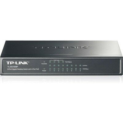 TP-LINK TL-SG1008P 8-Port Gigabit Desktop POE Switch with 4 PoE Ports