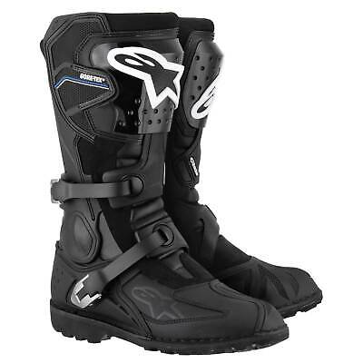 Alpinestars Toucan Gore Tex Motorcycle/Bike Boots - Black/Black - UK 7 / Eur 41