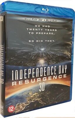 INDEPENDENCE DAY RESURGENCE - 3D [ Combo Blu-ray 3D + Blu-ray ] NEUF cellophané