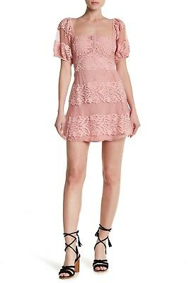 342227f18c4b FREE PEOPLE BE Your Baby Lace Mini Dress Color Black Size Large-L ...
