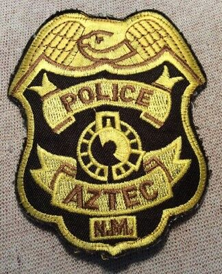 NM Aztec New Mexico Police Patch