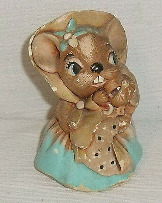 Pendelfin Mother Mouse Figure VERY CHIPPED!! Vtg England