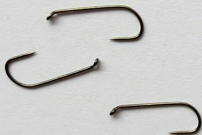 50) 100BL DRY FLY Tying Hooks dohimoto barbless 14, 12, 10, 8