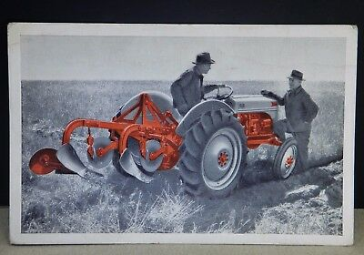 Vintage American Farm 1950 FORD TRACTOR Colorized Dealer Advertising POSTCARD PC