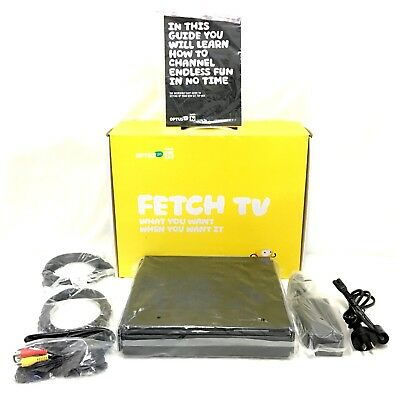 Optus FETCH TV BOXM605T 1TB Hard Drive 3 Built in HD Digital Tuners & Cables