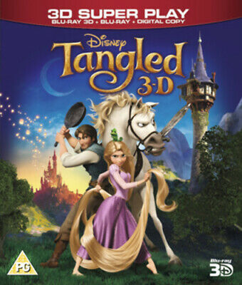 Tangled Blu-ray (2011) Nathan Greno cert PG 2 discs Expertly Refurbished Product
