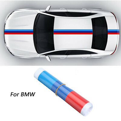 For BMW 1m Car M Sport Tech 3 Color Stripes Sticker Vinyl Decal Badge Emblem