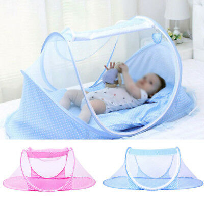 Foldable Infant Baby Mosquito Net Travel Cot Tent Mattress Cradle Bed Outdoor