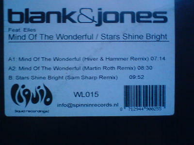Vinyl Maxi Blank & Jones - Mind Of The Wonderful/Star Shines Bright(Testpressing