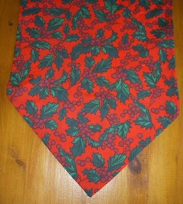 Christmas Holly Table runners Red & Green Homemade 60cm 110cm 135cm 180cm cotton