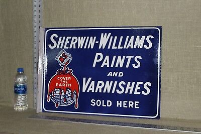 Sherwin Williams Paints & Varnishes Porcelain 2-Sided Flange Gas Oil Service
