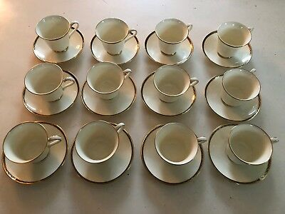 MINTON ST JAMES TEACUP AND SAUCER SETS Of 12 CH4434 Mint Condition