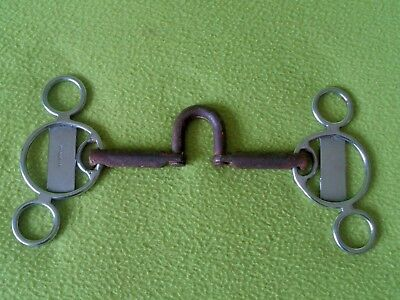 Vintage TRAMMELL Sweet Iron Correction Mouth Short Shank BIT~HARD to FIND Model
