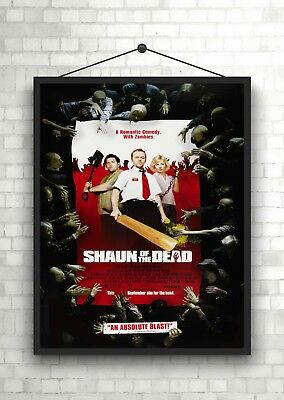 Shaun Of The Dead Classic Large Movie Poster Art Print A0 A1 A2 A3 A4 Maxi