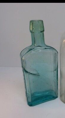 pre 1900 Antique bitters bottle in aqua and green swirls!!