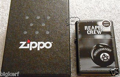 Reaper Crew   Official Sons Of Anarchy   Zippo Lighter   Black Matte  New In Box