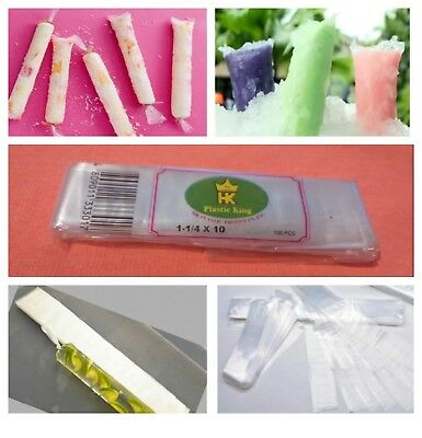 100 (Per Pack) Disposable Ice Smoothie bags, Ice Candy Bags, Ice Pop bags