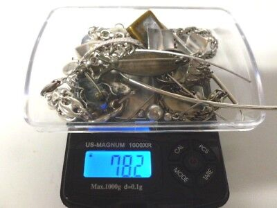 Mixed Lot of 925 Silver Scrap and Some Wear 78.2 grams