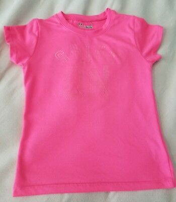 Under Armour Shirt Toddler 5 HeatGear Hot Pink Used