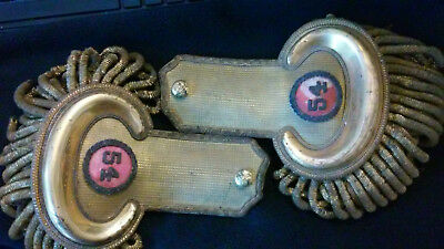 Original Set of Pre US Civil War Shoulder Epaulettes, Artillery, Horstmann