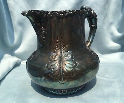 Derby Silver Company Quadruple Plated Creamer Antique