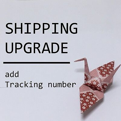 JAPAN Shipping Upgrade / add a tracking number
