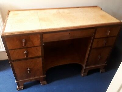 Vintage Wooden Desk With Drawers - beautiful! Pick up only Lewisham